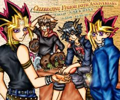 Collab - Reunion 'Coloured' by HikariYugiYamiAtemu