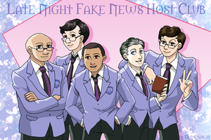 Late Night Fake News Host Club by ErinPtah