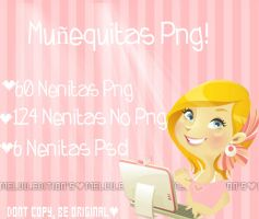 Pack De 190 Munequitas C: {ZIP} by MeluuEditions