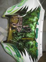 vietnam K-9 airbrushed on front fairing of yamaha by Jonny5nLala