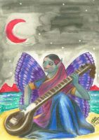 Serene Sitar Faerie by mayanbutterfly
