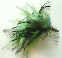 Green fascinator by The-Nanette-O