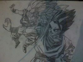 Gohan and SSJ3 Gotenks by Brucceeyy