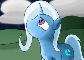 Trixie smiling by Jurassic-Dragon