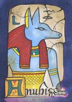 Anubis Sketch Card - Ingrid Hardy by Pernastudios