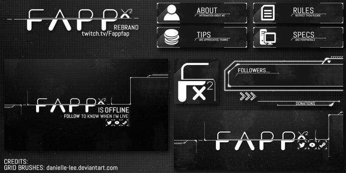 Fappfap Twitch Pack by Lolitaworks