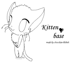 kitten base by chocolate-blobeh