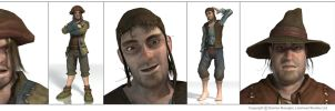 Fable 2 ingame villager assets by OmenD4