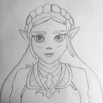 BoTW Zelda by LOZRocksmysocks77