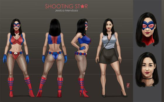 Shooting Star / Estrella Fugaz  - Character Sheet by LadyDreamMaker