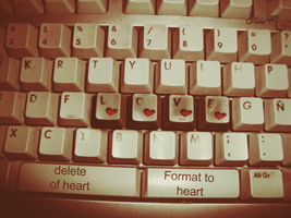 LOVE delete or format to HEART by juststyleJByKUDAI