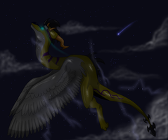 Point Comission- Electric Skies by Seria-The-Dragoness