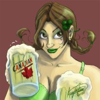 Pinup - St Patrick Day by spikecomix