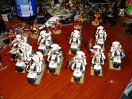 White Scar bikers by Comisar