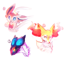.:Pokemon:. Doodles by LuneTheTiger