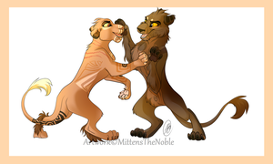 Lions by MittensTheNoble