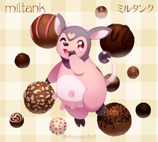 Miltank and Chocolate Truffles by LadyMurkrow