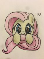Fluttershy Doodle by Bobdude0