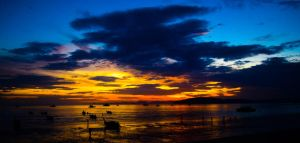 Thailand sunset by abxe
