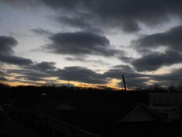 cloudy sunset by a-mockery