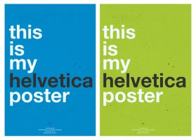 Helvetica Poster. by Shi-Cake