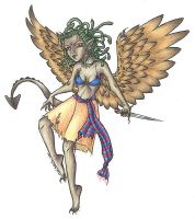 Winged Medusa by phoenix-feather
