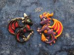 Spyro and Cynder Castings by DragonCid