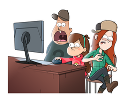 You've got some nasty internet history, Dipper. by markmak