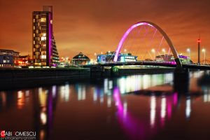 glasgow night view by gtimages
