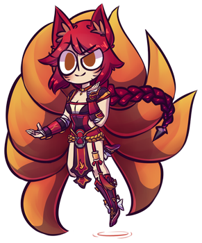fire fox baby by GalacticTitty