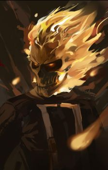 Ghost Rider by waynebridge
