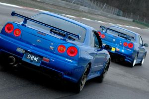 Skyline R34 GTR: double by Vipervelocity