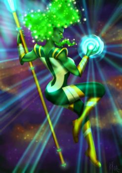 She-Hulk as the Emerald Emissary by FrolleinGrottenolm
