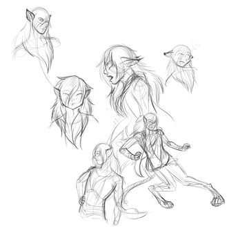 More Ryu sketches by WhenWolvesCryOut