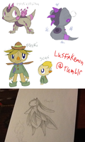 Fakemon Dump by Snow-ish