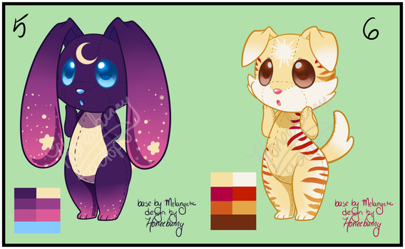 collab plushlings adopts set 3- open! by Honeebunny
