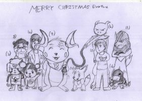 Merry Christmas To My Friends by Artooinst