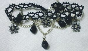 Black lace choker 1 by EruwaedhielElleth