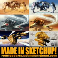 MADE IN SKETCHUP: MECHAS... AND MORE MECHAS!! by roback