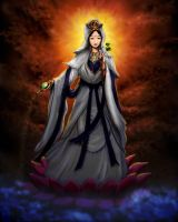 Guan Yin Goddess by whiteguardian