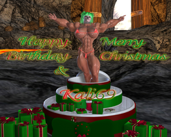 Happy Birthday and Merry Christmas for Kali96 by WolfsMuscleGirls