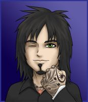 Nikki Sixx by kelly42fox
