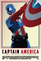 Captain America Movie Poster by petemag