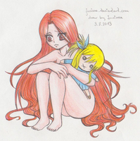 little Flair and her Blondie by Juviaaa