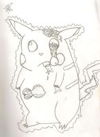 Zombie Pikachu Uncolored by AquaNature10