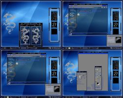 windows 7 theme blue dragon by tono3022