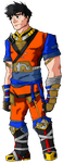 Shonen Warriors: Monk - Son Goku by IronClark