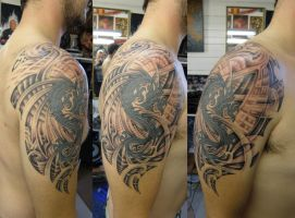 Sams dragon contin... by phoenixtattoos