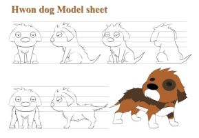 Hwon Dog_Model sheet by Foonix1225