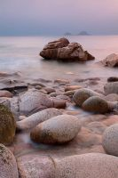 Moody Sunset Porth Nanven by Andyw01